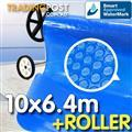 Pool Cover and Roller 10 x 6.4m