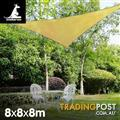 Shade sail 8x8x8m triangle