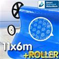 Pool Cover and Roller 11 x 6m