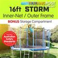 Storm 16 ft trampoline with inner net