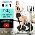 Powertrain 3-in-1 Elliptical cross trainer with Resistance Bands