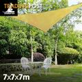 Shade sail 7x7x7m triangle