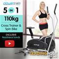 Powertrain 3-in-1 Elliptical cross trainer and exercise bike
