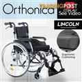 Orthonica 24in Wheelchair with Aluminium Glide Tubes - Lincoln