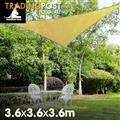 Shade sail 3.6m triangle