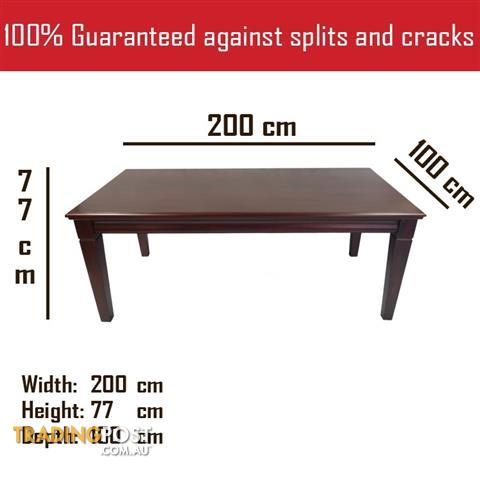 Solid Mahogany Wood Dining Table 2 Meters