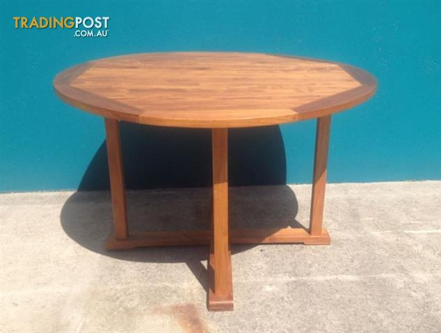 outdoor furniture solid teak wood oiled round table 120cm for sale