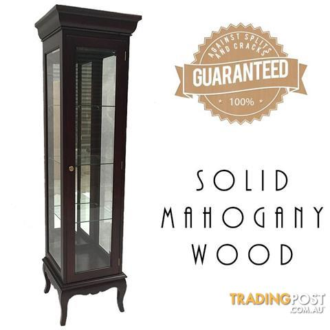 Mahogany Single Door Glass Display Cabinet For Sale In Coolaroo Vic