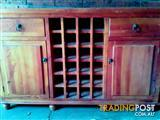 Buffet with a wine rack