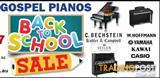 PIANOS BACK TO SCHOOL SALE