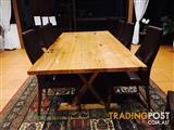 10 seater Solid wood dinning table nearly new half price