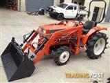 Kubota tractor 26hp 4wd diesel L1-225DT, mower, 4in1 loader