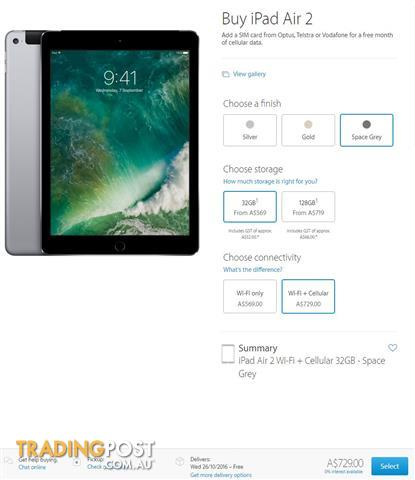 Xmas gift! iPad Air 2 32GB Wifi+Cellular + Smart Cover in Black