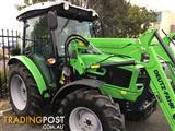 DEUTZ FAHR LATEST MODEL. CABIN & FRONT END LOADER