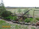 horse drawn plough antique