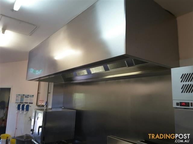Commercial Stainless Steel Canopy Range Hoods 2 x 3.5m