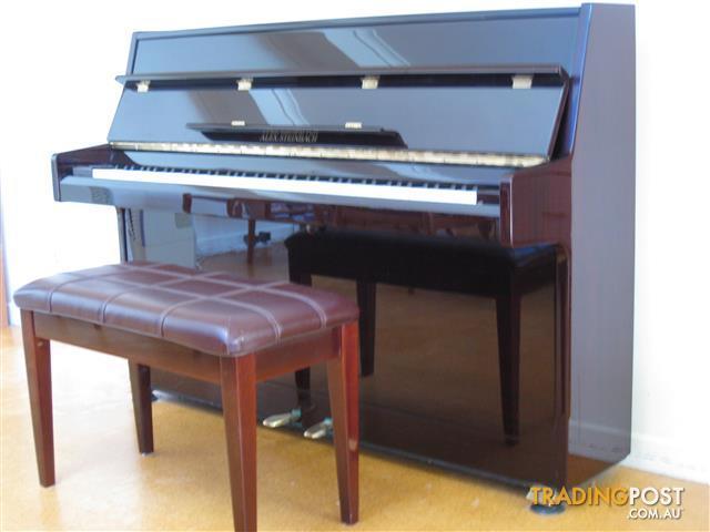Alex Steinbach Upright Piano and stool (ebony)