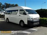 2010 Toyota Hiace Commuter High Roof Super LWB TRH223R MY10 Bus