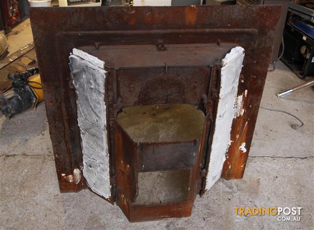 Cast Iron Fireplace With Aqua Tiles