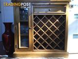 Gorgeous display cabinet with wine rack and cheese board