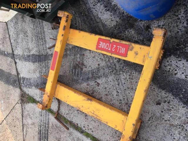 forklift lifting bag frame, 2 tonne capacity 2000kg