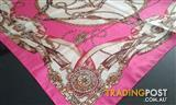 Ladies silk-look vintage style scarf