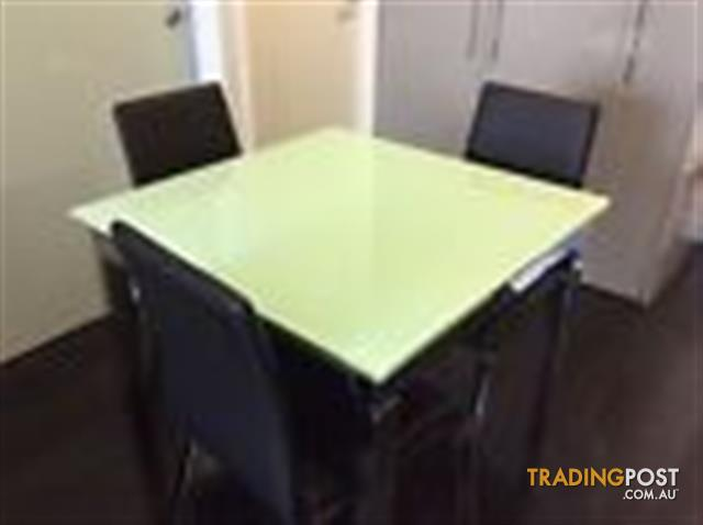 Adriatic Lotus Extendable Glass Dining Table