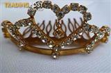Girls Diamond Tiara (75mm wide x 30 mm high)