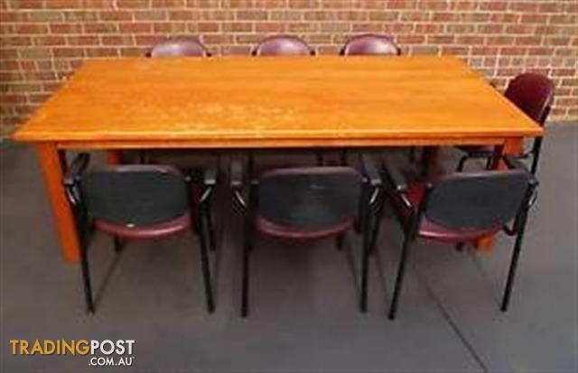Large Timber Boardroom Table Mmxmmxmm Chairs For - Large boardroom table