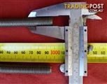 304 Stainless Steel M12 Allthread / Threaded Rod offcuts