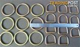New Heavy Duty Lifting O-Rings / O Rings Nickel plated D Rings /