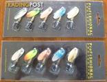 New 10pcs Fishing Spoon Lure Treble Hooks Spinner Bait Spinnerbai