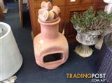 Pottery firepit oven chiminea