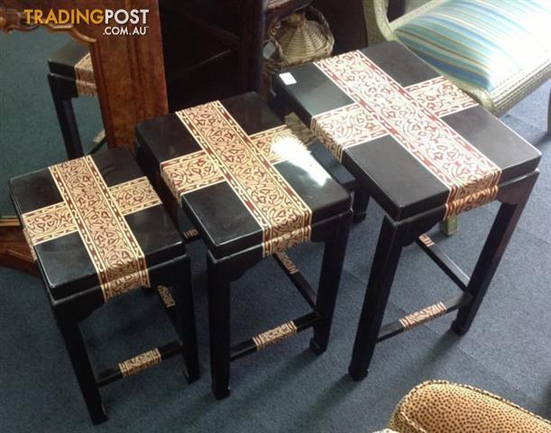 Nest of 3 chinese style side tables coffee table for sale in ashmore nest of 3 chinese style side tables coffee table watchthetrailerfo