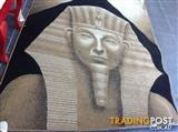 Egyptian face on rug 159cm wide x 220cm long