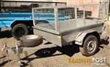 6 x 4 box trailer with cage