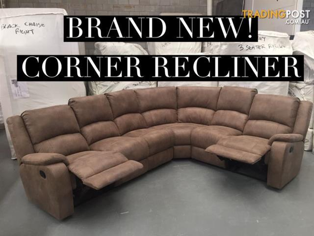 Brand New Fabric Corner Lounge - Recliner : corner lounge with recliner - islam-shia.org