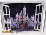 ROMANTIC PRINCESS CASTLE WALL STICKER FOR GIRLS ROOM