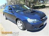 2004 SUBARU LIBERTY GT PREMIUM PACK 4GEN SEDAN