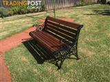 Cast iron outdoor Vintage garden park wrought bench seats