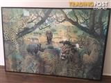 African BIG 5 animals, Jigsaw Puzzle Framed Picture