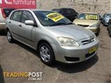2005  TOYOTA COROLLA ASCENT ZZE122R 5Y 5D HATCHBACK