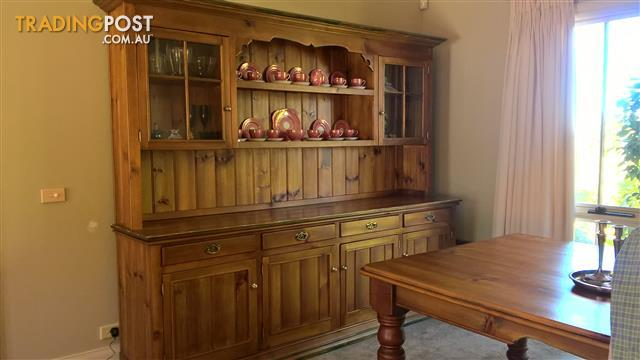 Elegant Country Style Wall Unit and Cabinet
