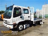 #2221 ISUZU FRR 500 Dual-Cab 155HP Tray Truck with ramps