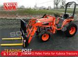 DIGGA 1200kg Agricultural Loader Pallet Forks to suit Kubota Tractors