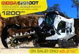 Digga BIGFOOT 1200 Hydraulic Trencher - 1200MM DIG DEPTH SUIT Skid Steer Loaders.
