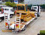 SCANIA Prime mover Truck P82M with Semi Trailer + CAT D4G.XL Dozer