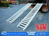 Aluminium Loading Ramps 4.5 Ton 400mm Wide Rubber Series