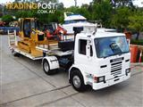 SCANIA P82M Prime mover Truck with Low Loader combo with CAT D4G.XL Dozer