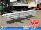 Aluminium Loading Ramps 3.6 Ton 350mm Wide Rubber Series